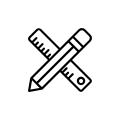tužka a pravítko